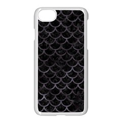 Scales1 Black Marble & Black Watercolor Apple Iphone 7 Seamless Case (white) by trendistuff
