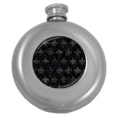 Royal1 Black Marble & Black Watercolor (r) Hip Flask (5 Oz) by trendistuff