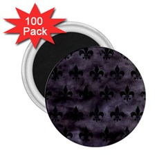 Royal1 Black Marble & Black Watercolor 2 25  Magnet (100 Pack)  by trendistuff