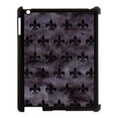 Royal1 Black Marble & Black Watercolor Apple Ipad 3/4 Case (black) by trendistuff