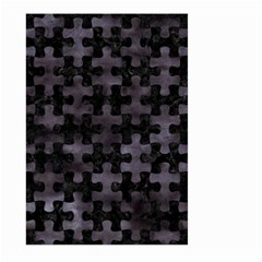 Puzzle1 Black Marble & Black Watercolor Large Garden Flag (two Sides) by trendistuff
