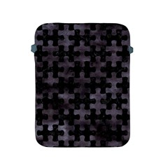 Puzzle1 Black Marble & Black Watercolor Apple Ipad 2/3/4 Protective Soft Case