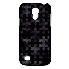 Puzzle1 Black Marble & Black Watercolor Samsung Galaxy S4 Mini (gt I9190) Hardshell Case  by trendistuff