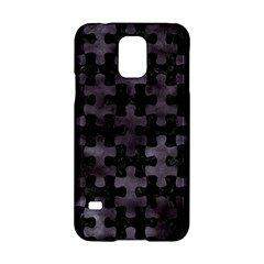 Puzzle1 Black Marble & Black Watercolor Samsung Galaxy S5 Hardshell Case  by trendistuff