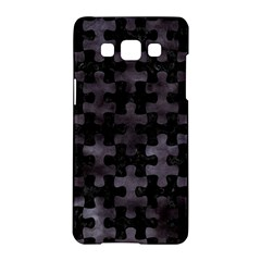 Puzzle1 Black Marble & Black Watercolor Samsung Galaxy A5 Hardshell Case