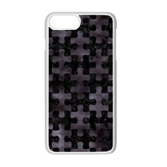 Puzzle1 Black Marble & Black Watercolor Apple Iphone 7 Plus White Seamless Case by trendistuff