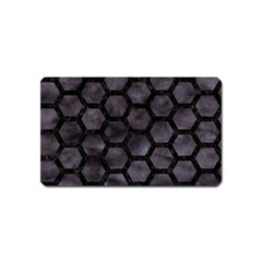 Hexagon2 Black Marble & Black Watercolor (r) Magnet (name Card) by trendistuff