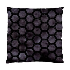 Hexagon2 Black Marble & Black Watercolor (r) Standard Cushion Case (one Side) by trendistuff