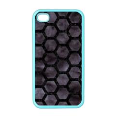 Hexagon2 Black Marble & Black Watercolor (r) Apple Iphone 4 Case (color) by trendistuff
