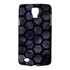 Hexagon2 Black Marble & Black Watercolor (r) Samsung Galaxy S4 Active (i9295) Hardshell Case by trendistuff