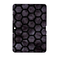 Hexagon2 Black Marble & Black Watercolor (r) Samsung Galaxy Tab 2 (10 1 ) P5100 Hardshell Case  by trendistuff