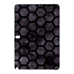 Hexagon2 Black Marble & Black Watercolor (r) Samsung Galaxy Tab Pro 12 2 Hardshell Case by trendistuff