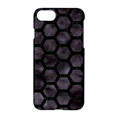 Hexagon2 Black Marble & Black Watercolor (r) Apple Iphone 7 Hardshell Case by trendistuff