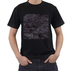 Hexagon1 Black Marble & Black Watercolor (r) Men s T Shirt (black) (two Sided) by trendistuff