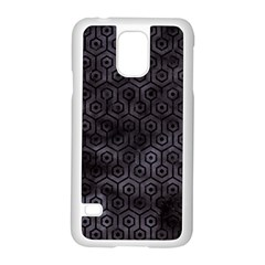 Hexagon1 Black Marble & Black Watercolor (r) Samsung Galaxy S5 Case (white) by trendistuff
