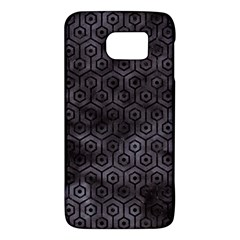 Hexagon1 Black Marble & Black Watercolor (r) Samsung Galaxy S6 Hardshell Case  by trendistuff