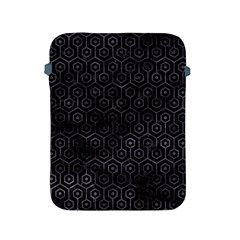 Hexagon1 Black Marble & Black Watercolor Apple Ipad 2/3/4 Protective Soft Case by trendistuff