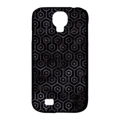 Hexagon1 Black Marble & Black Watercolor Samsung Galaxy S4 Classic Hardshell Case (pc+silicone) by trendistuff