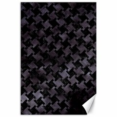 Houndstooth2 Black Marble & Black Watercolor Canvas 24  X 36  by trendistuff
