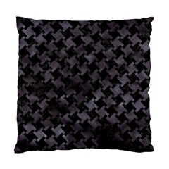 Houndstooth2 Black Marble & Black Watercolor Standard Cushion Case (one Side) by trendistuff