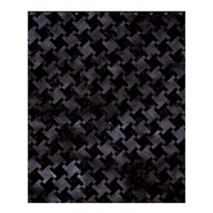 Houndstooth2 Black Marble & Black Watercolor Shower Curtain 60  X 72  (medium) by trendistuff