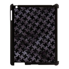 Houndstooth2 Black Marble & Black Watercolor Apple Ipad 3/4 Case (black) by trendistuff