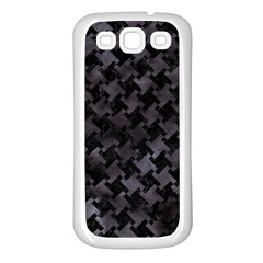 Houndstooth2 Black Marble & Black Watercolor Samsung Galaxy S3 Back Case (white) by trendistuff