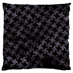 Houndstooth2 Black Marble & Black Watercolor Standard Flano Cushion Case (one Side) by trendistuff