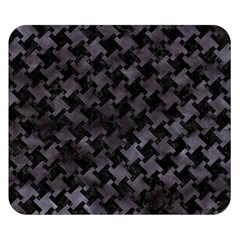 Houndstooth2 Black Marble & Black Watercolor Double Sided Flano Blanket (small) by trendistuff