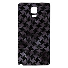 Houndstooth2 Black Marble & Black Watercolor Samsung Note 4 Hardshell Back Case by trendistuff