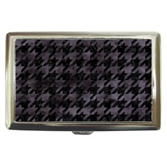 Houndstooth1 Black Marble & Black Watercolor Cigarette Money Case by trendistuff
