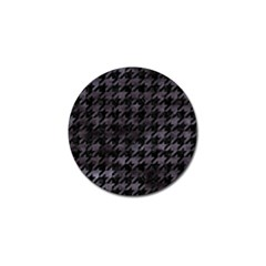 Houndstooth1 Black Marble & Black Watercolor Golf Ball Marker (4 Pack) by trendistuff