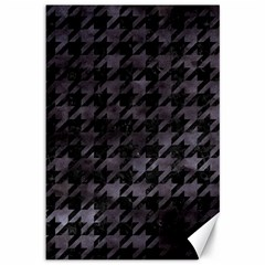 Houndstooth1 Black Marble & Black Watercolor Canvas 12  X 18  by trendistuff