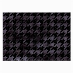 Houndstooth1 Black Marble & Black Watercolor Large Glasses Cloth (2 Sides) by trendistuff