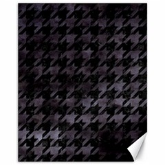 Houndstooth1 Black Marble & Black Watercolor Canvas 11  X 14  by trendistuff