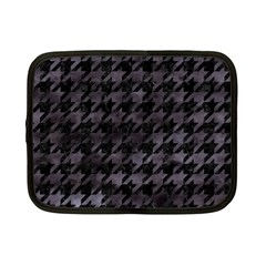 Houndstooth1 Black Marble & Black Watercolor Netbook Case (small) by trendistuff