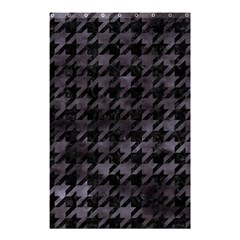 Houndstooth1 Black Marble & Black Watercolor Shower Curtain 48  X 72  (small) by trendistuff