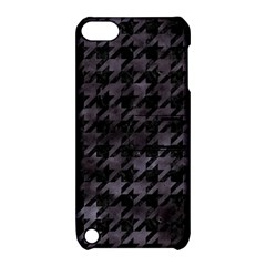 Houndstooth1 Black Marble & Black Watercolor Apple Ipod Touch 5 Hardshell Case With Stand by trendistuff