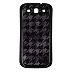 Houndstooth1 Black Marble & Black Watercolor Samsung Galaxy S3 Back Case (black) by trendistuff