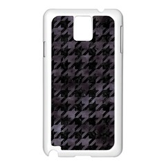 Houndstooth1 Black Marble & Black Watercolor Samsung Galaxy Note 3 N9005 Case (white) by trendistuff