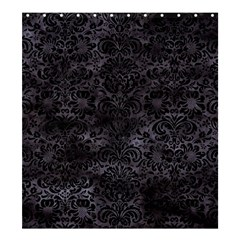 Damask2 Black Marble & Black Watercolor (r) Shower Curtain 66  X 72  (large) by trendistuff