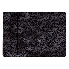 Damask2 Black Marble & Black Watercolor (r) Samsung Galaxy Tab 10 1  P7500 Flip Case by trendistuff