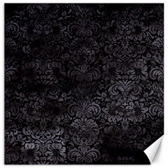 Damask2 Black Marble & Black Watercolor Canvas 16  X 16  by trendistuff