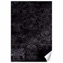 Damask2 Black Marble & Black Watercolor Canvas 20  X 30  by trendistuff