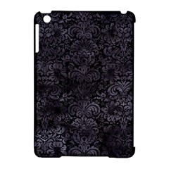 Damask2 Black Marble & Black Watercolor Apple Ipad Mini Hardshell Case (compatible With Smart Cover) by trendistuff