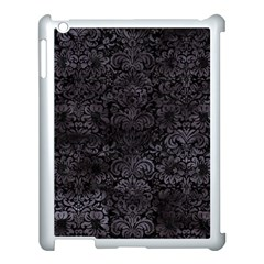 Damask2 Black Marble & Black Watercolor Apple Ipad 3/4 Case (white) by trendistuff