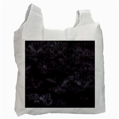 Damask1 Black Marble & Black Watercolor (r) Recycle Bag (one Side) by trendistuff