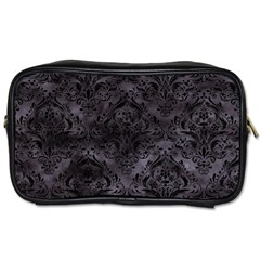 Damask1 Black Marble & Black Watercolor (r) Toiletries Bag (two Sides) by trendistuff