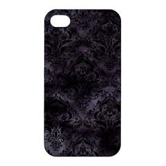 Damask1 Black Marble & Black Watercolor (r) Apple Iphone 4/4s Hardshell Case by trendistuff