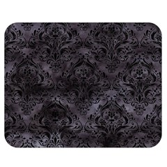 Damask1 Black Marble & Black Watercolor (r) Double Sided Flano Blanket (medium) by trendistuff